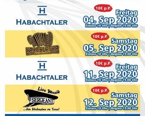 4 Konzerte Anfang September