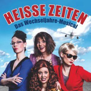 Das Plakat mit den vier Damen von Heisse Zeiten.